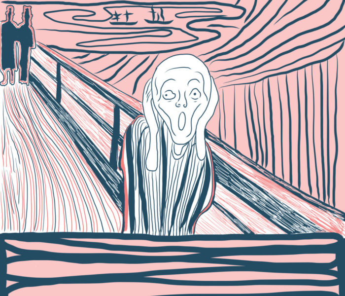 scream of munch by sepia flora