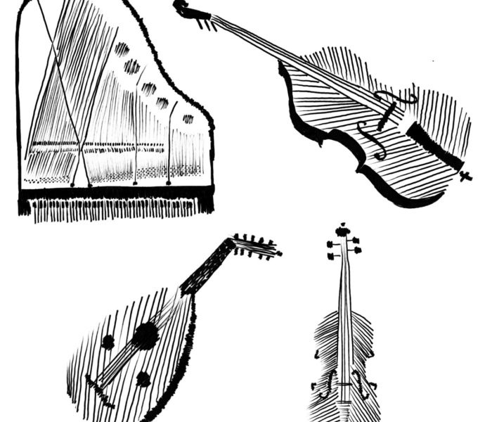 string instruments sepia flora